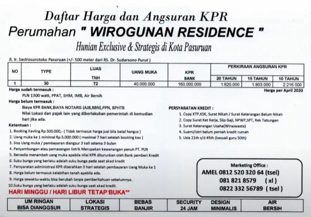 Rumah Di Dalam Kota Pasuruan Rp 199.000.000 Hub 082233256789