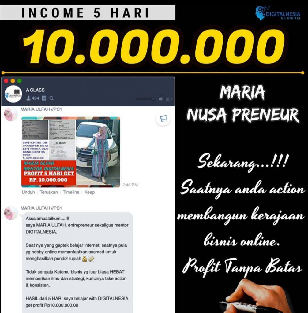 Mau Belajar Berbisnis Online dan di Didik oleh Owner Profesional? Bergabunglah bersama Komunitas Pengusaha Muda Kreatif PT. Nusa Kreatif Group