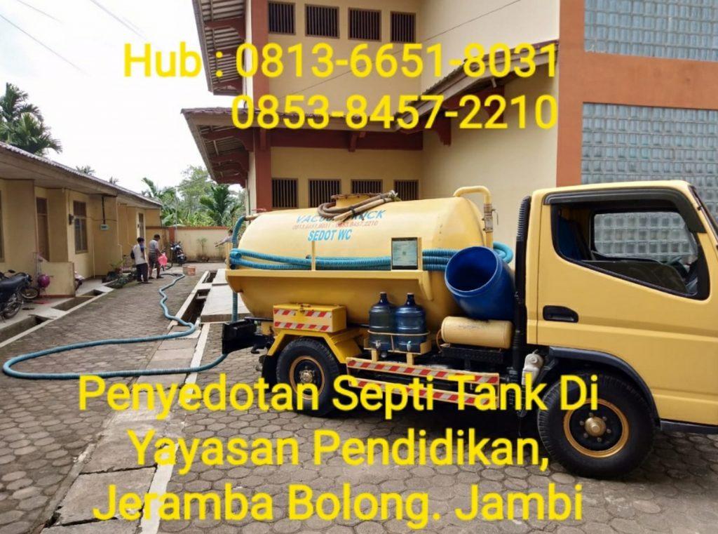 Jasa Sedot WC Jambi 0813-6651-8031 / 0853-8457-2210