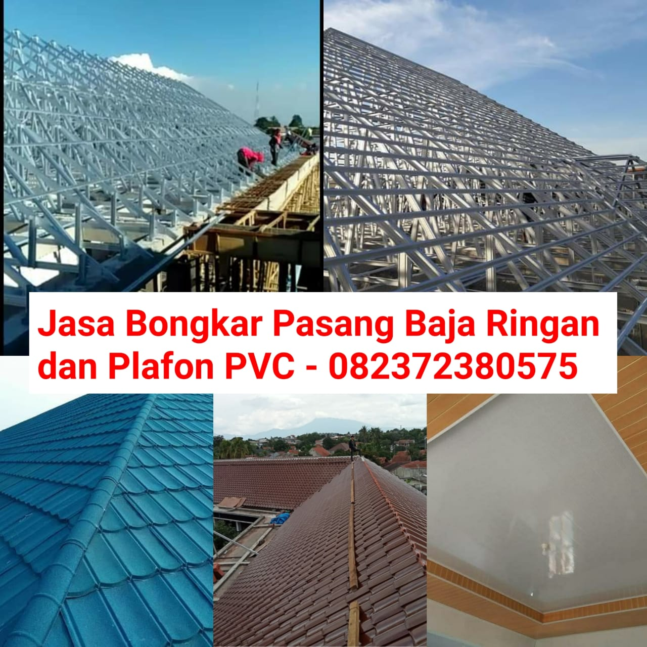 Jasa Bongkar Pasang Baja Ringan dan Plafon Area Jakarta, Bogor, Depok, Tangerang, dan Bekasi